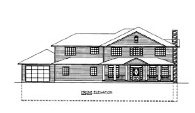 House Plan 86678 Elevation