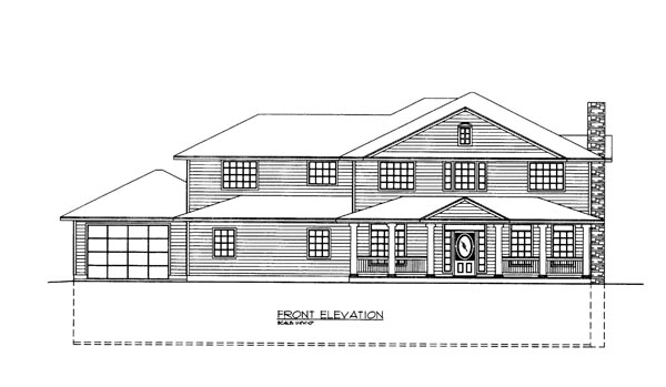 House Plan 86678 Elevation