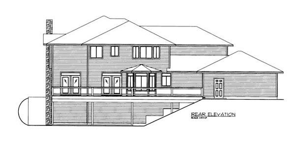 House Plan 86678 Rear Elevation