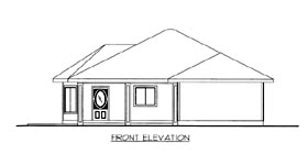 House Plan 86679 | Southwest Style Plan with 1308 Sq Ft, 2 Bedrooms, 2 Bathrooms Elevation