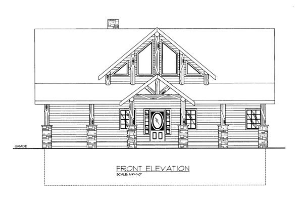 House Plan 86680 Elevation