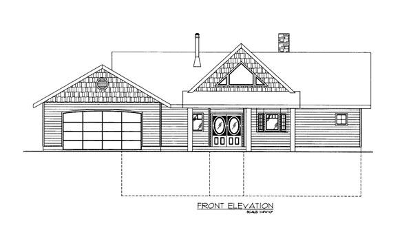 House Plan 86681 Elevation
