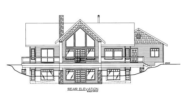 House Plan 86681 Rear Elevation