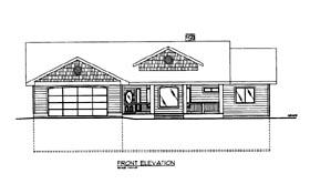 House Plan 86682 Elevation