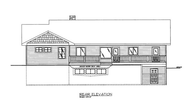 House Plan 86682 Rear Elevation