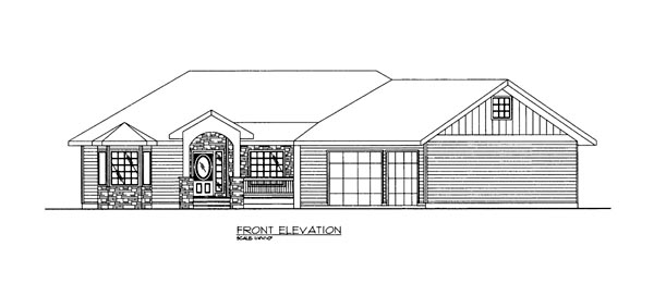House Plan 86683 Elevation
