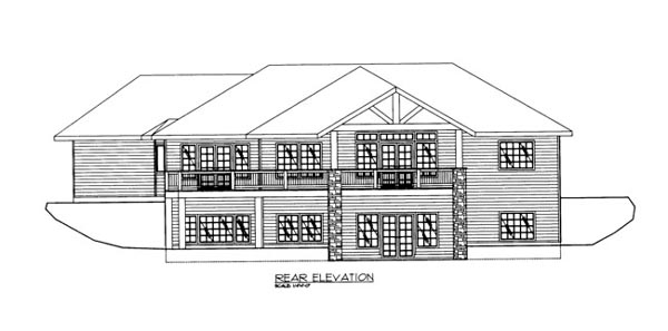 House Plan 86683 Rear Elevation