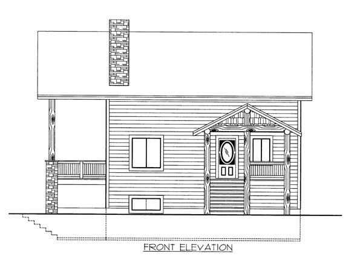 House Plan 86684 Elevation