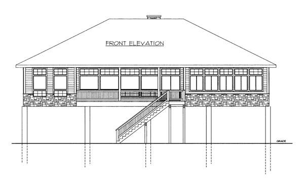 House Plan 86685 Elevation