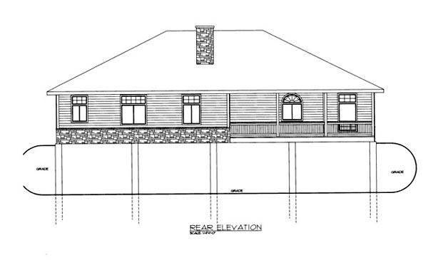 House Plan 86685 Rear Elevation