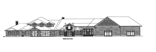 House Plan 86686 Elevation