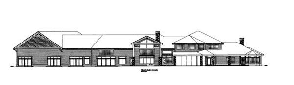 House Plan 86686 Rear Elevation