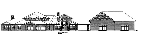 House Plan 86687 Elevation