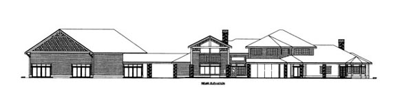 House Plan 86687 Rear Elevation