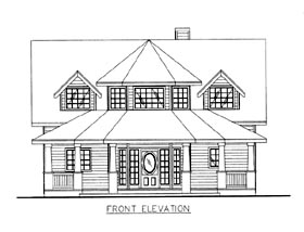 House Plan 86688 Elevation