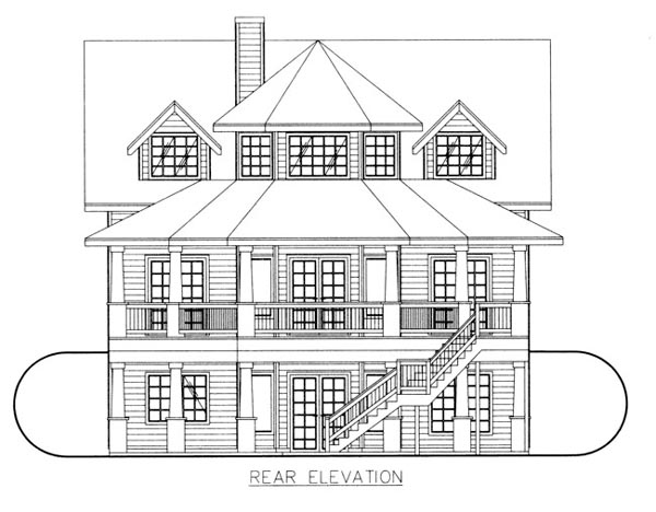 House Plan 86688 Rear Elevation
