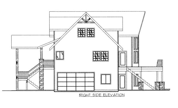 House Plan 86689 with 4 Beds, 3 Baths, 2 Car Garage Picture 1