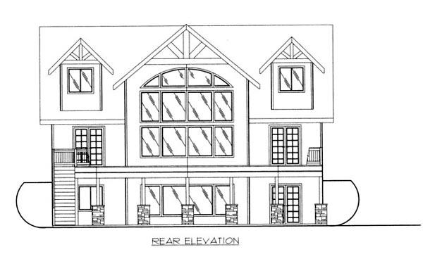 House Plan 86689 Rear Elevation