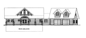House Plan 86690 with 3 Beds, 3 Baths, 3 Car Garage Elevation