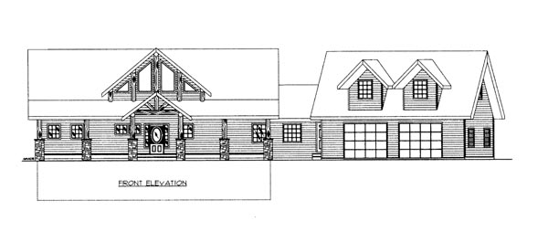 House Plan 86690 Elevation