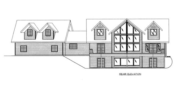 House Plan 86690 Rear Elevation