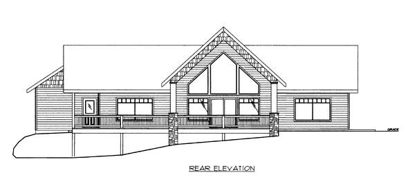House Plan 86691 Rear Elevation