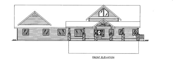 House Plan 86692 Elevation