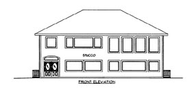 House Plan 86693 with 2 Beds, 2 Baths Elevation