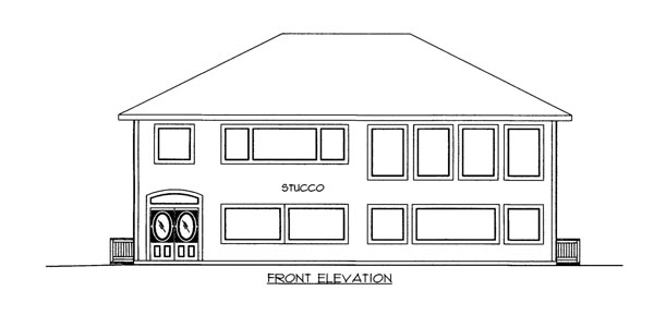 Elevation of Plan 86693