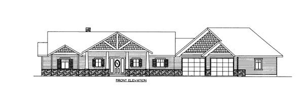 House Plan 86694 Elevation