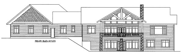 House Plan 86694 Rear Elevation