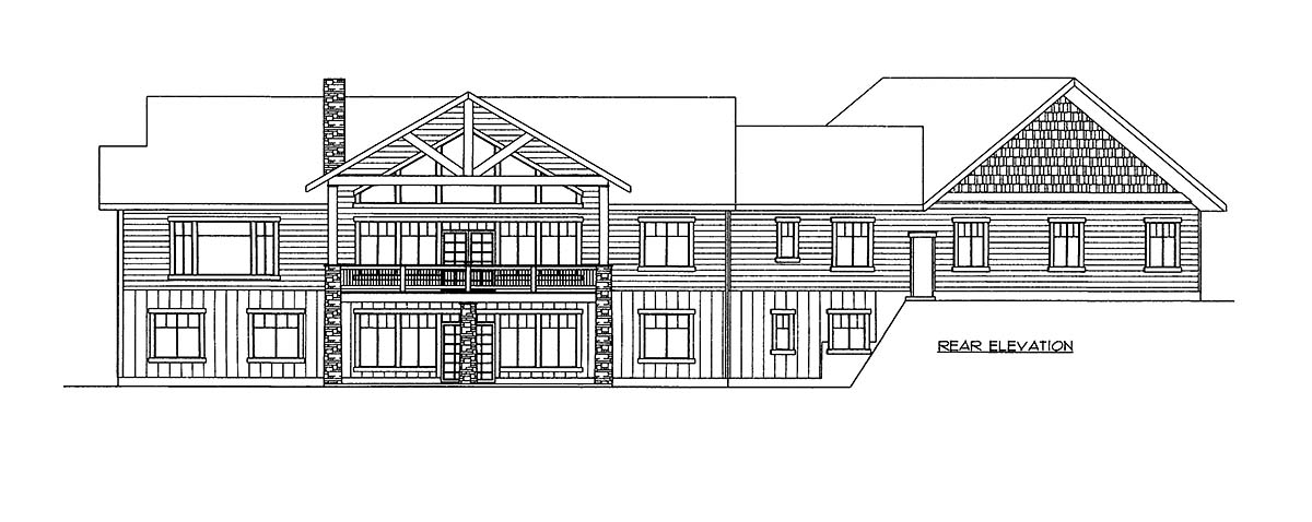House Plan 86695 Rear Elevation