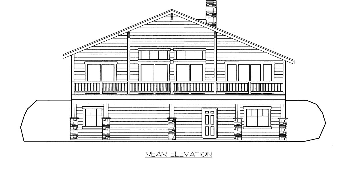 House Plan 86696 Rear Elevation