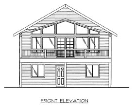 House Plan 86697 | Style Plan with 1944 Sq Ft, 2 Bedrooms, 3 Bathrooms, 2 Car Garage Elevation