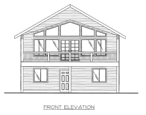 House Plan 86697 Elevation