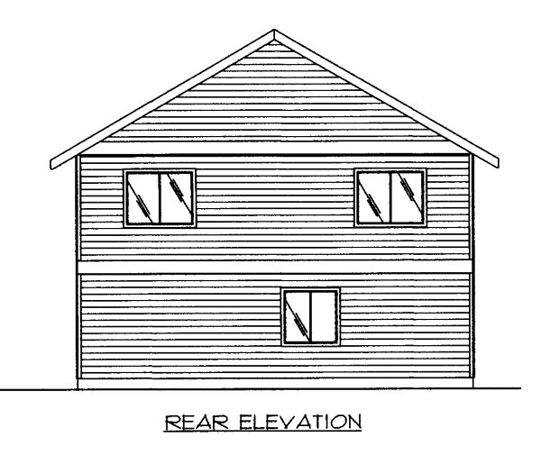 House Plan 86697 Rear Elevation