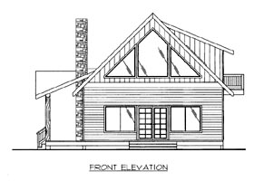 House Plan 86698 Elevation