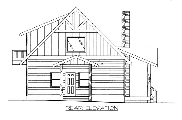 House Plan 86698 Rear Elevation