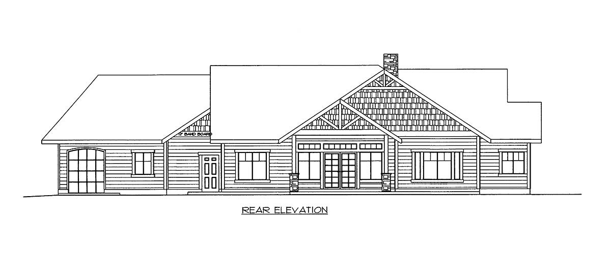 House Plan 86699 Rear Elevation
