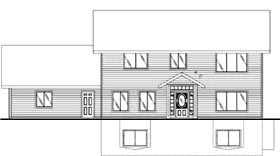 Colonial House Plan 86700 Elevation