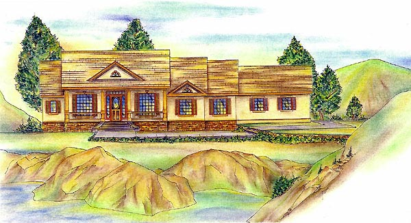 Traditional House Plan 86702 Elevation