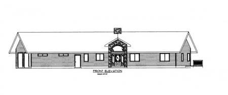 Traditional House Plan 86704 Rear Elevation