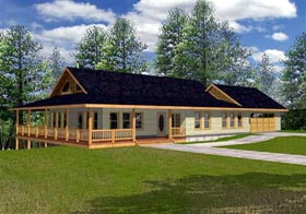 Country House Plan 86705 Elevation