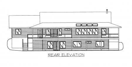 Country House Plan 86705 Rear Elevation