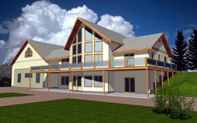 Contemporary House Plan 86710 Elevation