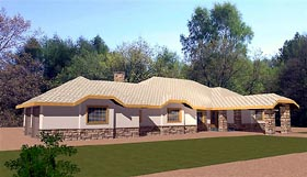 Bungalow House Plan 86711 with 2 Beds, 3 Baths, 2 Car Garage Elevation