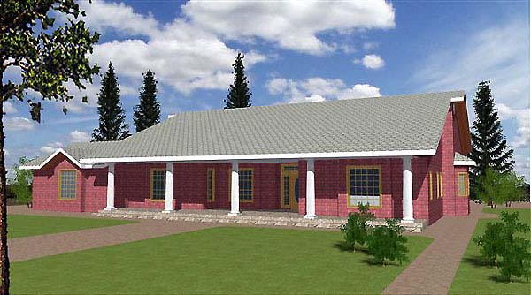 Traditional House Plan 86712 Elevation