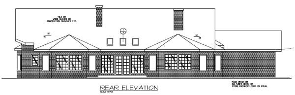 Traditional House Plan 86712 Rear Elevation