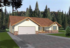 House Plan 86718 | Traditional Style Plan with 1740 Sq Ft, 3 Bedrooms, 2 Bathrooms, 2 Car Garage Elevation