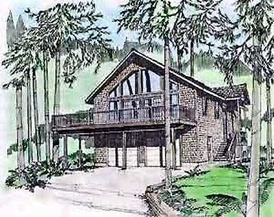 House Plan 86719 | Contemporary Style Plan with 1774 Sq Ft, 3 Bedrooms, 3 Bathrooms, 2 Car Garage Elevation